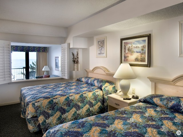 oceanfront guest suite at beach colony resort