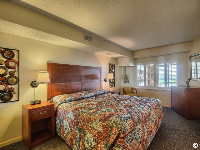 oceanfront king suite at beach colony resort